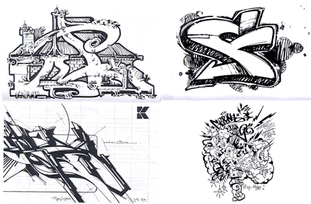 26 artists each given the first letter of their graffiti name to draw.